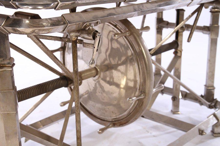 VINTAGE INDUSTRIAL MECHANICAL TABLE WHEEL ADJ - 3