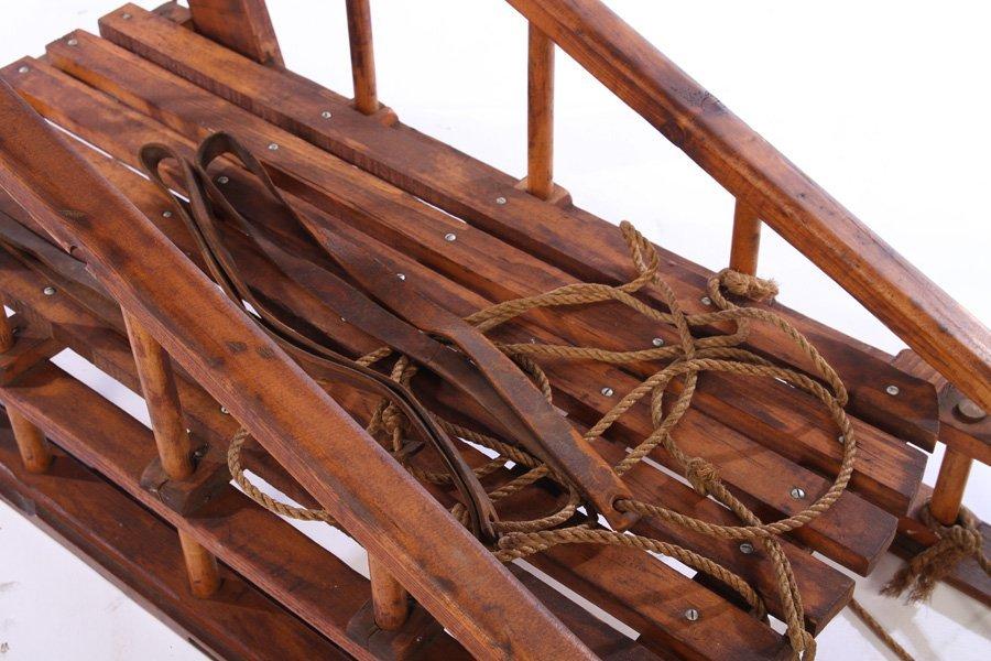 RARE BOY SCOUT HANDMADE WILDERNESS SLED 1963 - 4