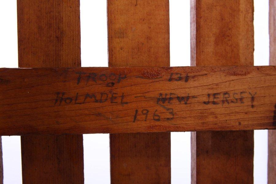 RARE BOY SCOUT HANDMADE WILDERNESS SLED 1963 - 6