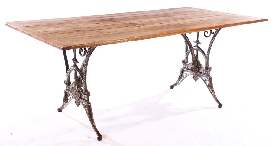 ENGLISH CAST IRON GARDEN TABLE COLEBROOKDALE 1900