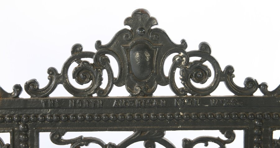 19TH CENT. AMERICAN CAST IRON BENCH LABELED - 3