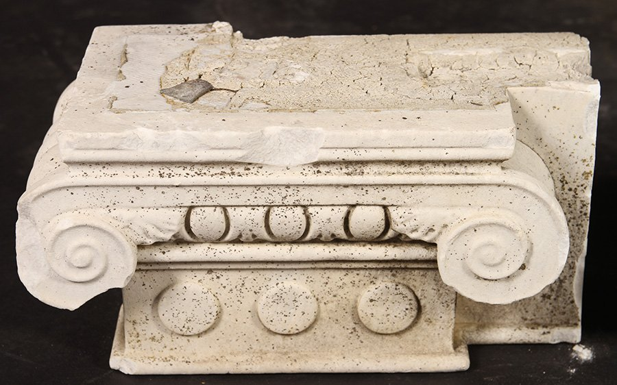 4 LATE 19TH CENT. CARVED MARBLE CAPITALS - 2