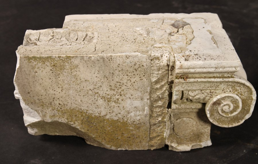 4 LATE 19TH CENT. CARVED MARBLE CAPITALS - 4