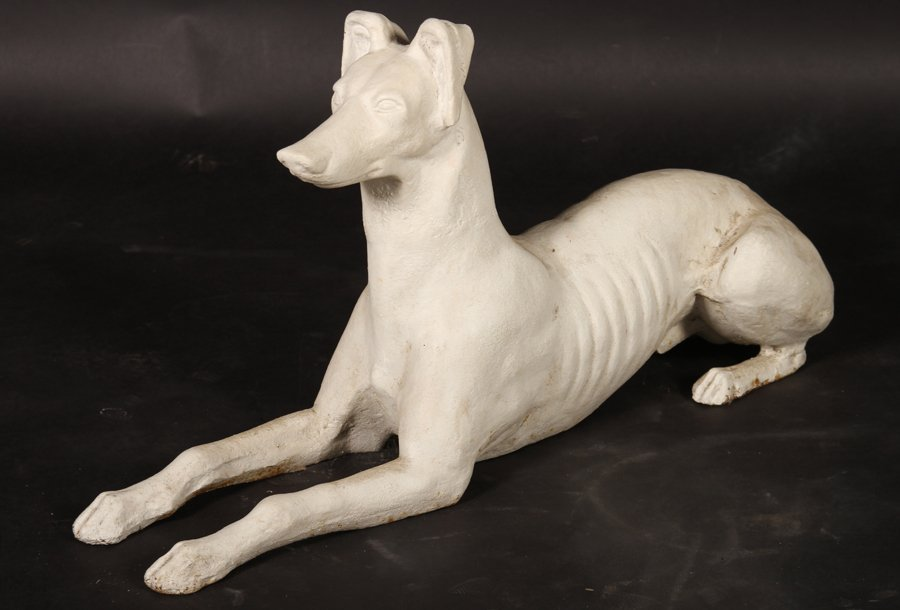 PAIR AMERICAN CAST IRON WHIPPETS ATTR. FISKE 1900 - 2