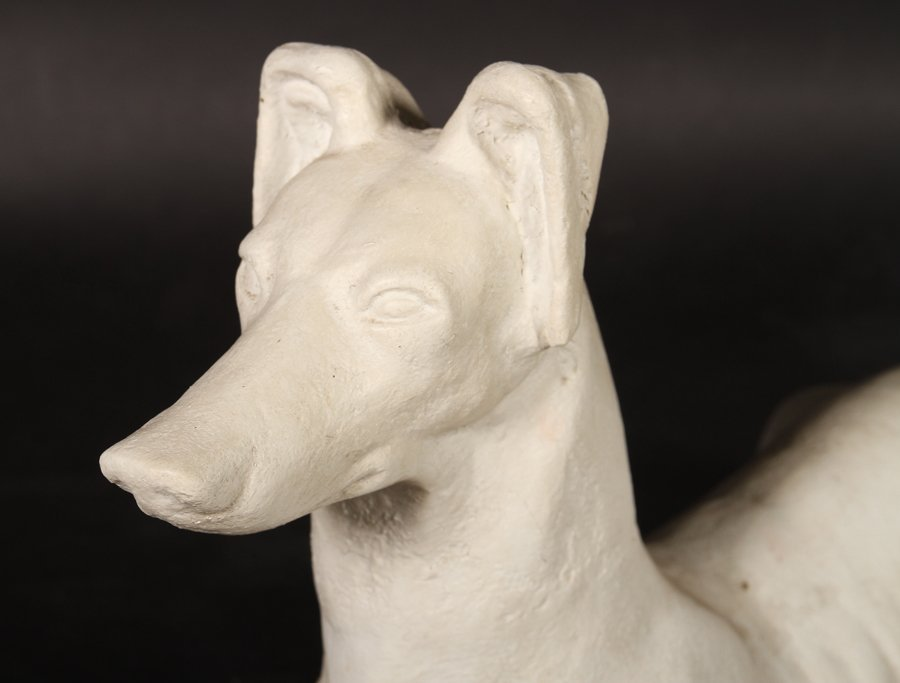 PAIR AMERICAN CAST IRON WHIPPETS ATTR. FISKE 1900 - 3
