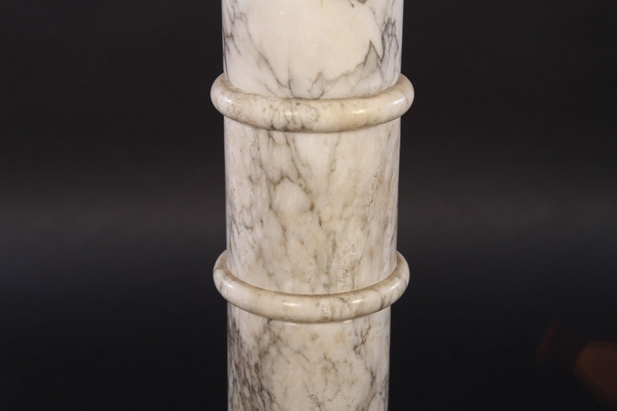 LOT OF THREE CARVED MARBLE PEDESTALS - 4