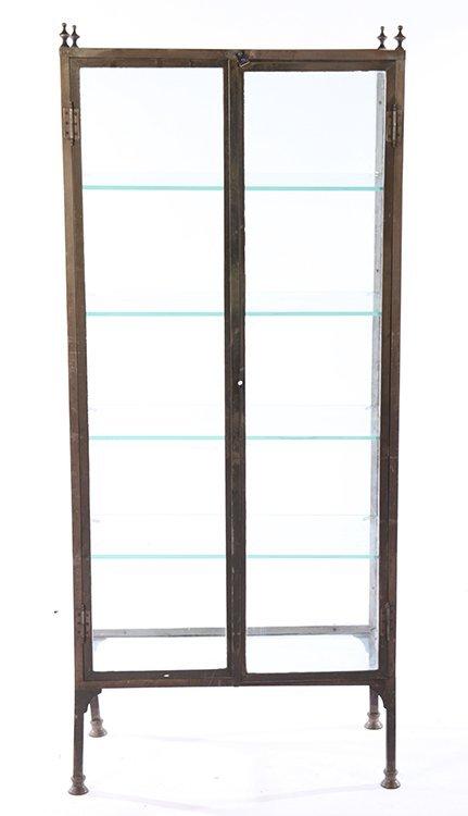 NICKEL OVER BRONZE VITRINE 2 GLASS DOORS 1920 - 2