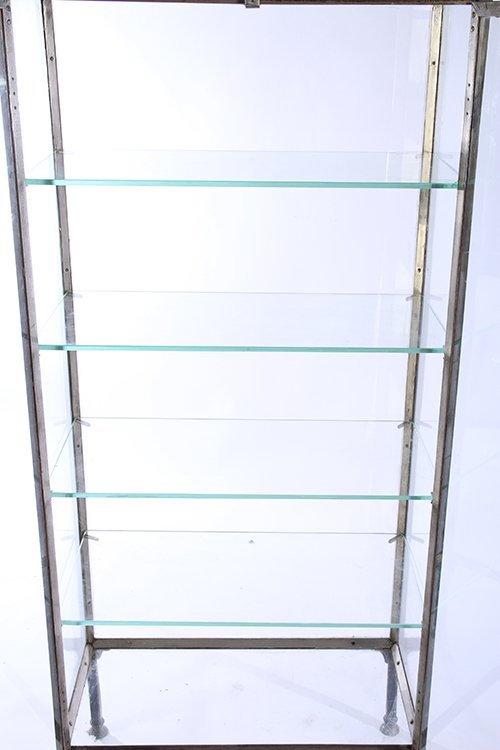 NICKEL OVER BRONZE VITRINE 2 GLASS DOORS 1920 - 4