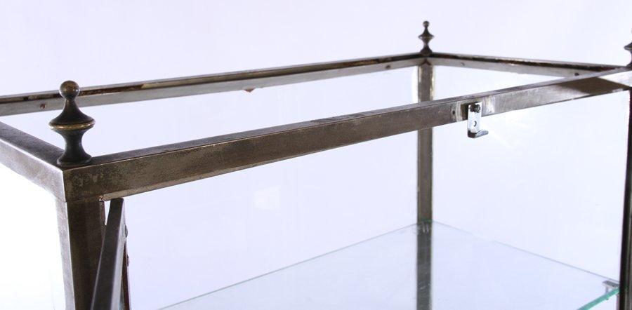 NICKEL OVER BRONZE VITRINE 2 GLASS DOORS 1920 - 5