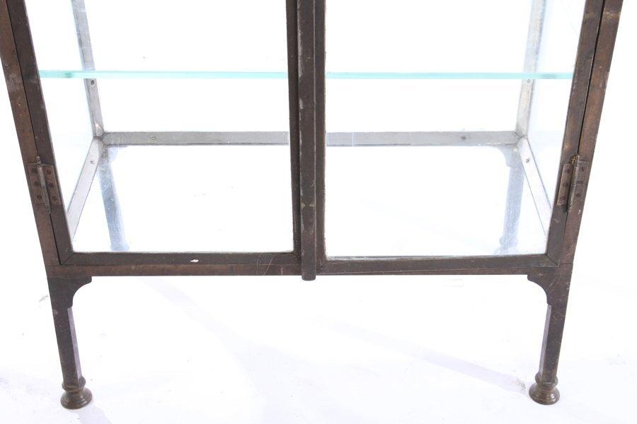 NICKEL OVER BRONZE VITRINE 2 GLASS DOORS 1920 - 6