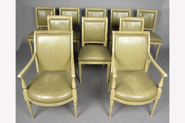 10 JANSEN PAINTED NEO CLASSIC DINING CHAIRS CHAIR