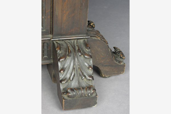 ROSE VALLEY attr. CARVED GOTHIC DINING ROOM TABLE 10'! - 5