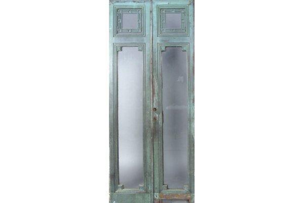 50161008: PAIR OF CAST BRONZE DOORS CIRCA 1900.