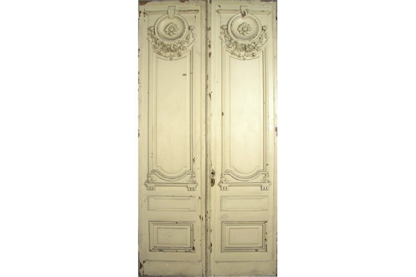 50167056: EXCELLENT PAIR OF CARVED FRENCH DOORS CIRCA 1