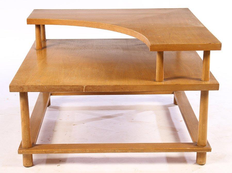 LABELED T.H. ROBSJOHN GIBBINGS SIDE TABLE C.1960