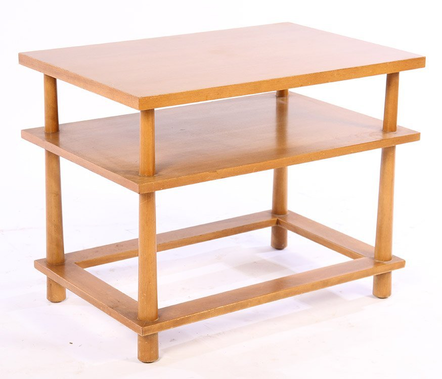 A LABELED T.H. ROBSJOHN GIBBINGS SIDE TABLE C1960
