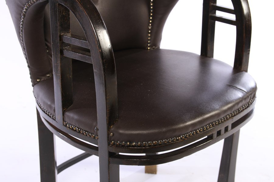 19TH CENT. SECESSIONIST ARM CHAIR UPHOLSTERED - 4