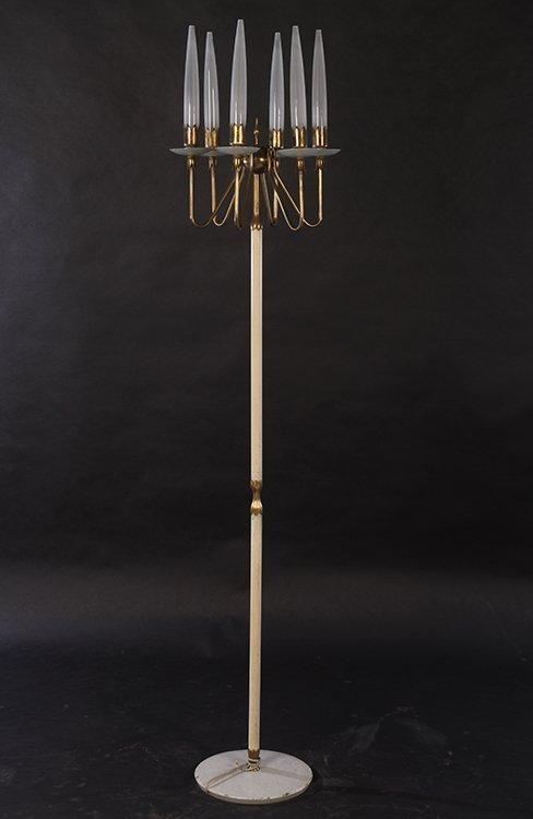 ANGELO LELLI BRASS FLOOR LAMP 6 LIGHTS 1960