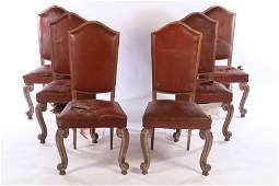 SET FRENCH MODERN CERUSED OAK DINING CHAIRS 1940
