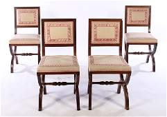 SET OF FRENCH OAK CHAIRS ANDRE ARBUS C. 1930