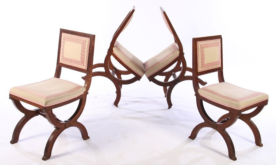 SET OF FRENCH OAK CHAIRS ANDRE ARBUS C. 1930 - 2