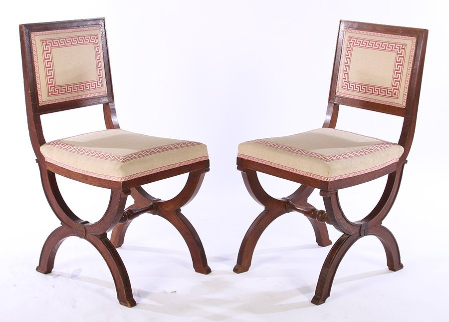 SET OF FRENCH OAK CHAIRS ANDRE ARBUS C. 1930 - 3