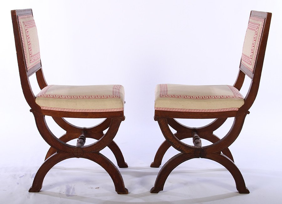 SET OF FRENCH OAK CHAIRS ANDRE ARBUS C. 1930 - 4