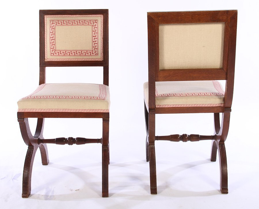 SET OF FRENCH OAK CHAIRS ANDRE ARBUS C. 1930 - 5