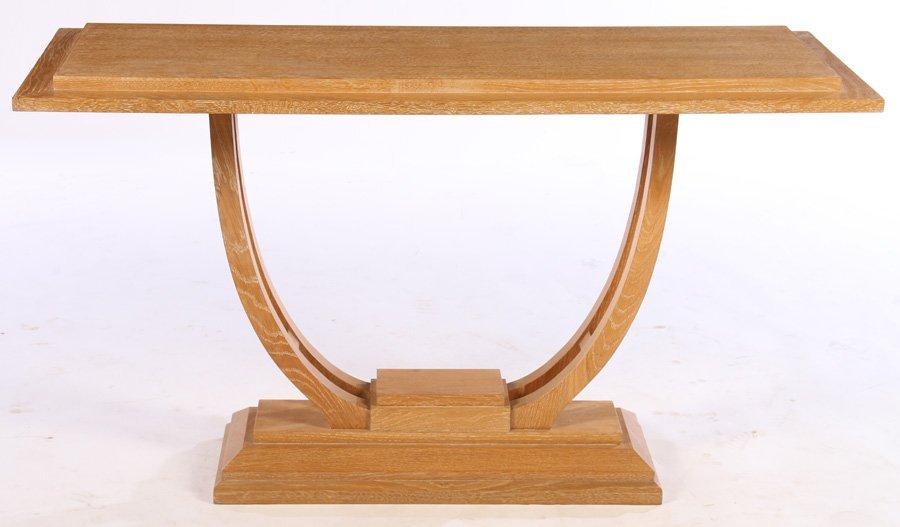 ART DECO OAK CONSOLE TABLE STEPPED TOP - 2