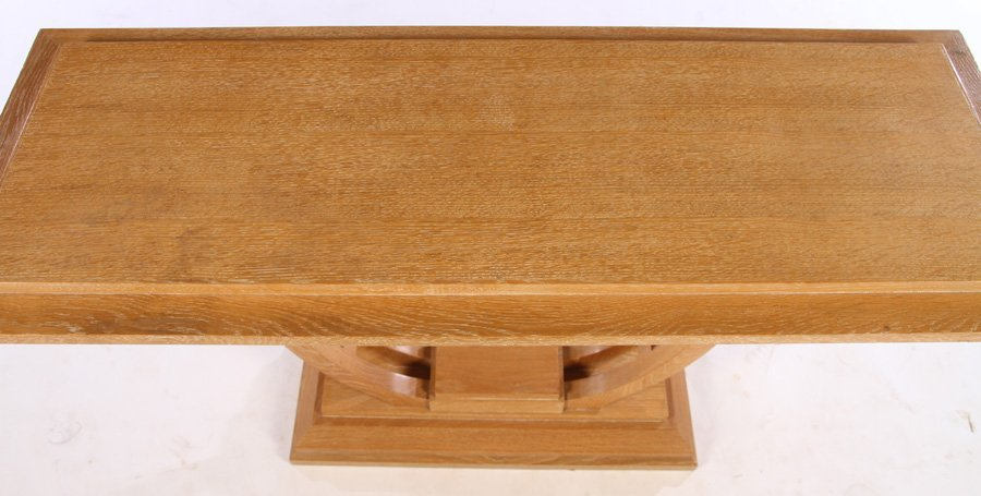 ART DECO OAK CONSOLE TABLE STEPPED TOP - 3