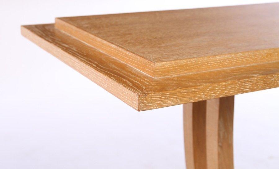 ART DECO OAK CONSOLE TABLE STEPPED TOP - 4
