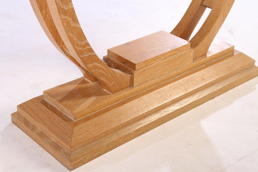 ART DECO OAK CONSOLE TABLE STEPPED TOP - 5