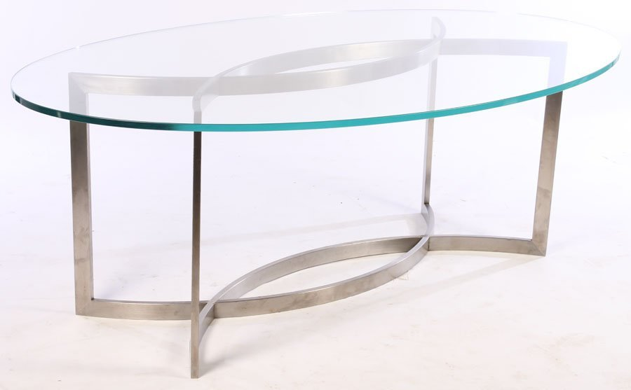 FRENCH PAUL LE GEARD GLASS TOP DINING TABLE C1970