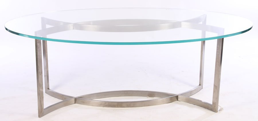 FRENCH PAUL LE GEARD GLASS TOP DINING TABLE C1970 - 2