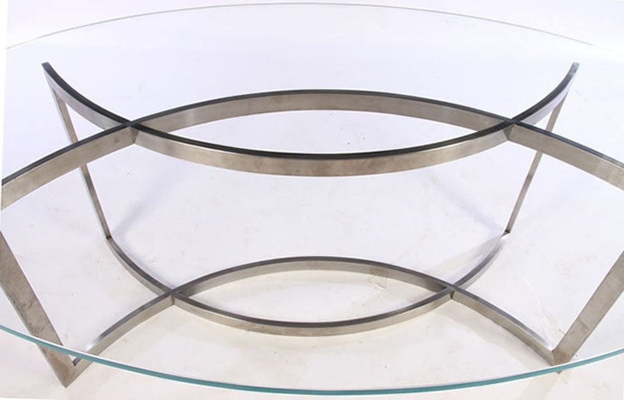 FRENCH PAUL LE GEARD GLASS TOP DINING TABLE C1970 - 3