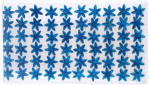 FRENCH COLORED FLOWER EMBEDDED LUCITE PANEL