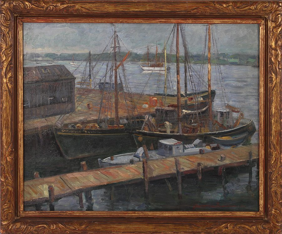 GIOVANNI MARTINO OIL ON CANVAS SIGNED DATED 1930