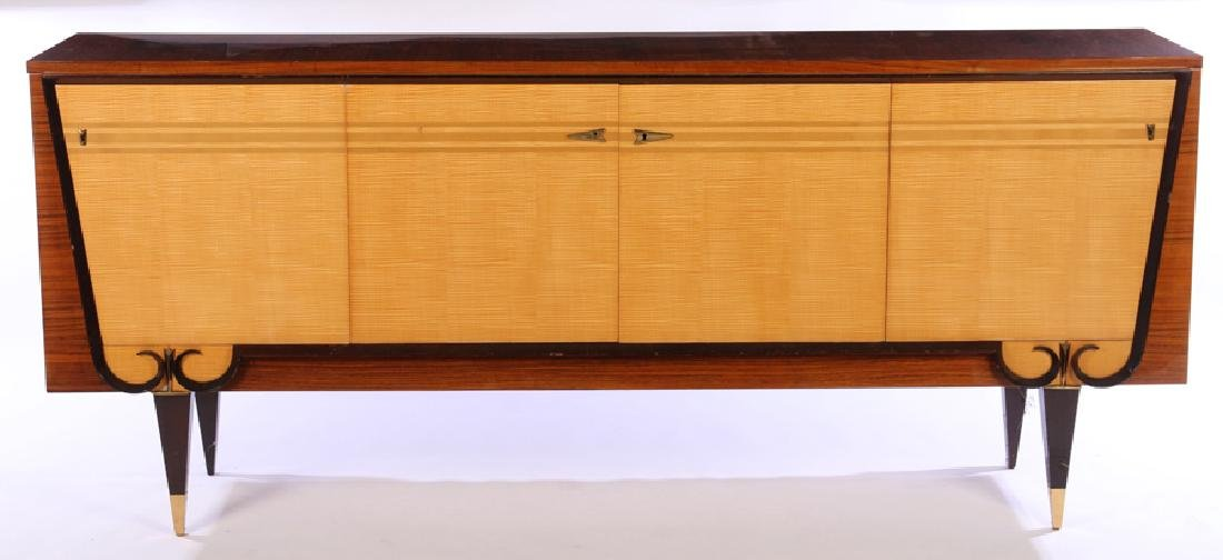 FRENCH ROSEWOOD SIDEBOARD 4 SYCAMORE DOORS 1940