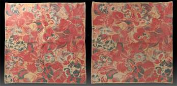 LOT 2 FRENCH WOVEN COTTON AREA RUGS