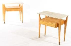 PAIR OF OSVALDO BORSANI END TABLES
