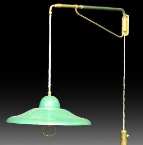 ITALIAN MODERN HANGING LIGHT ADJUSTABLE ARM 1960
