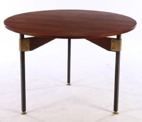 ITALIAN DINING TABLE IRON LEGS BRONZE MOUNTS 1960