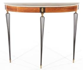 Italian Console Table With Onyx Top 1970
