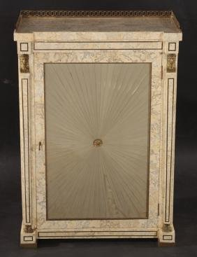 MAITLAND SMITH TESSELLATED MARBLE SIDE CABINET