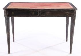 CERUSED MAHOGANY LEATHER TOP DESK JEAN FRANK 1940