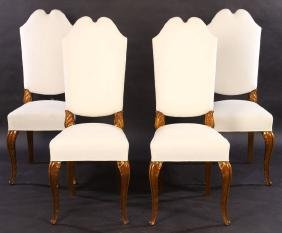 SET OF 4 FRENCH MAISON JANSEN SIDE CHAIRS C.1940