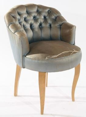 FRENCH BOUDOIR CHAIR MANNER OF DOMINIQUE 1940