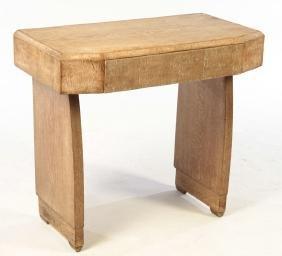 CERUSED OAK CONSOLE TABLE MOLDED EDGE TOP 1940
