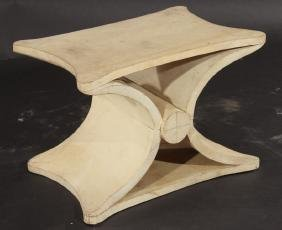 PARCHMENT COVERED BENCH JEAN MICHEL FRANK