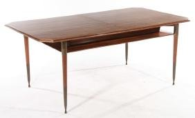 MODERN DINING TABLE MOLDED EDGE TOP 1960
